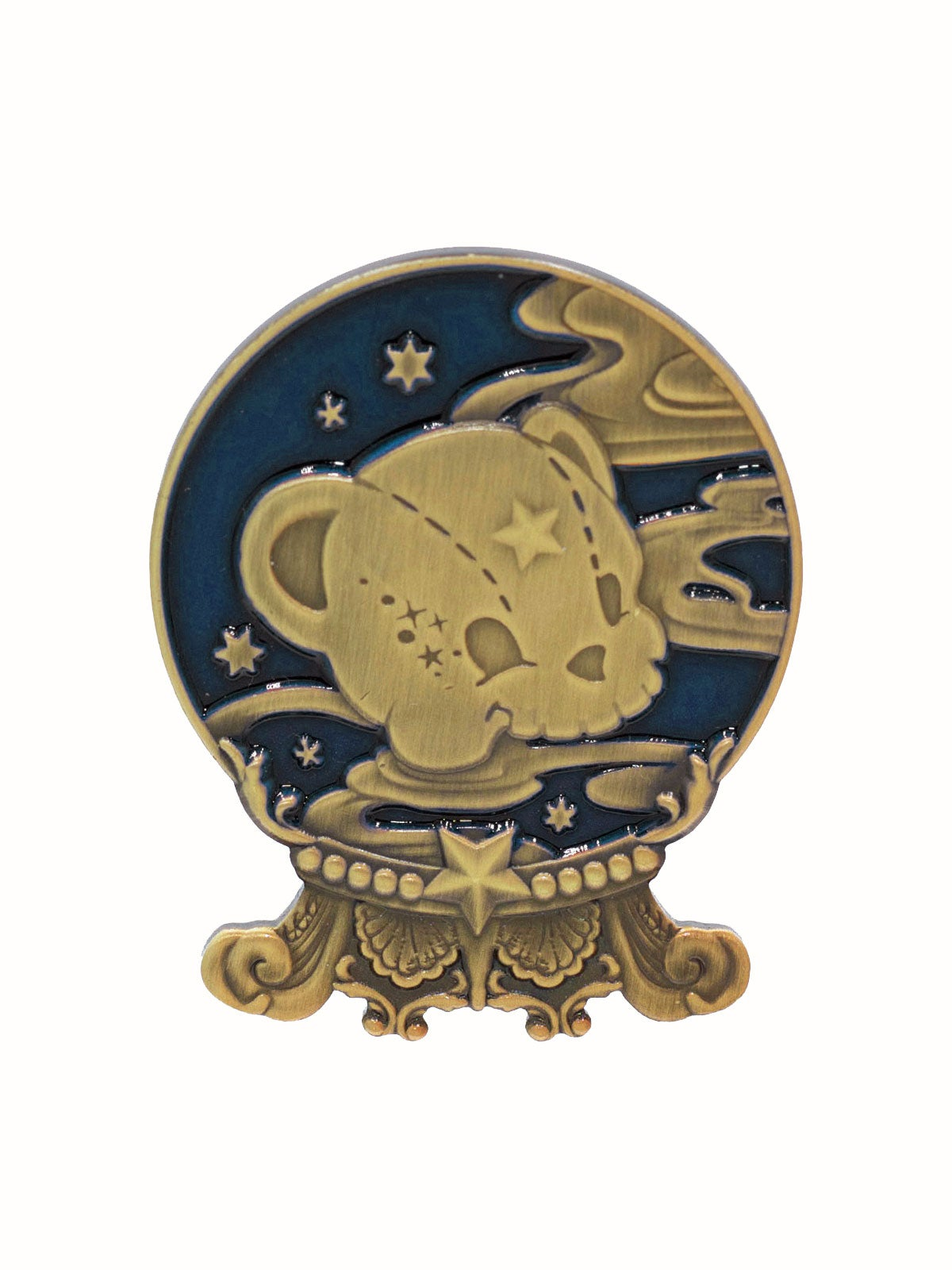 Image of Kuma's Crystal Ball Brooch · Navy