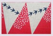 Image of Tissu Echino: Hill red