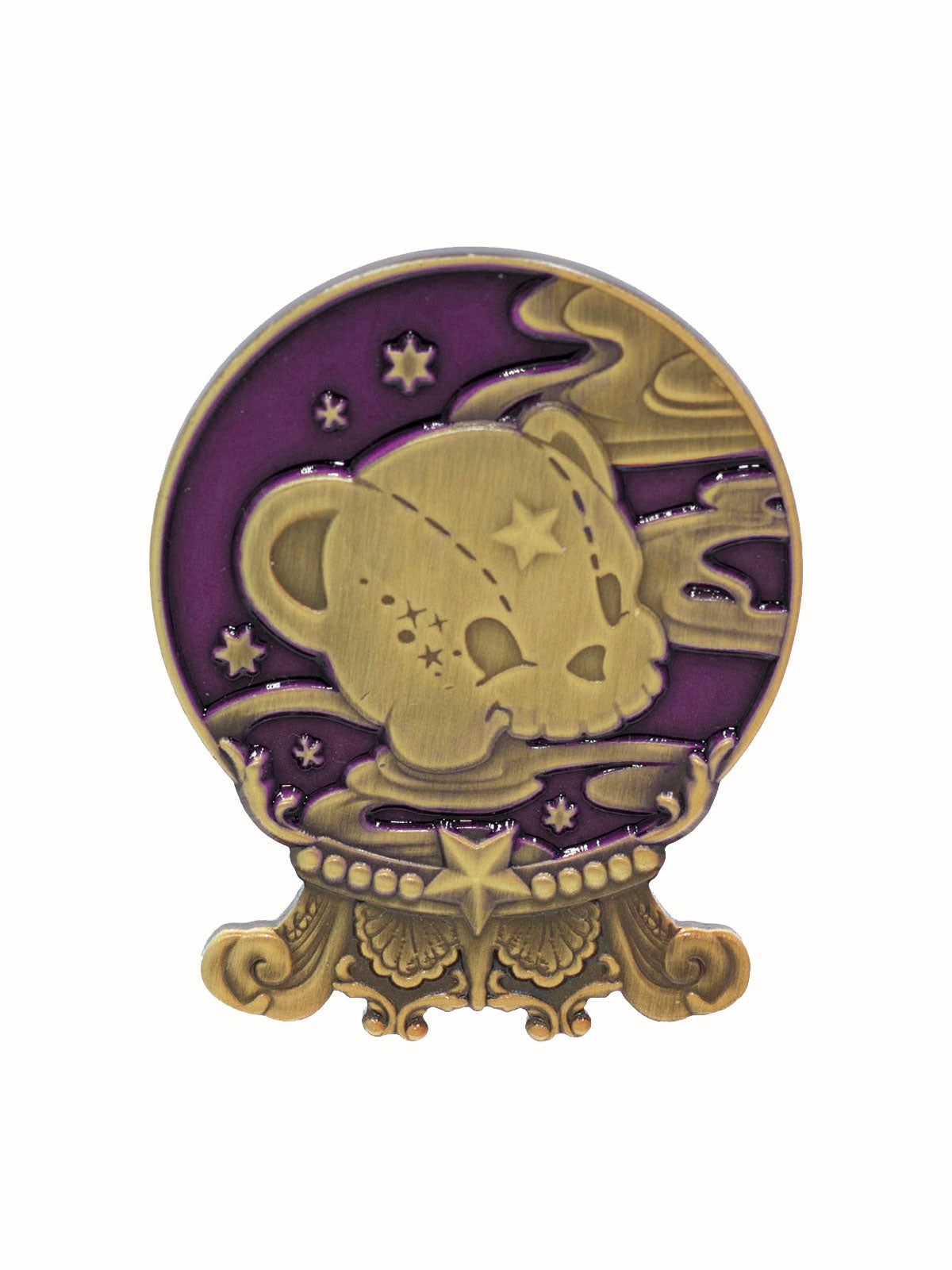 Image of Kuma's Crystal Ball Brooch · Mystic Purple