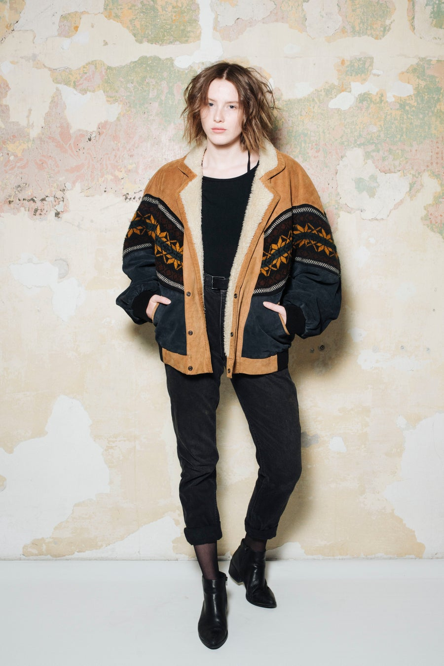 Image of Aztec Leather Sheepskin Jacket