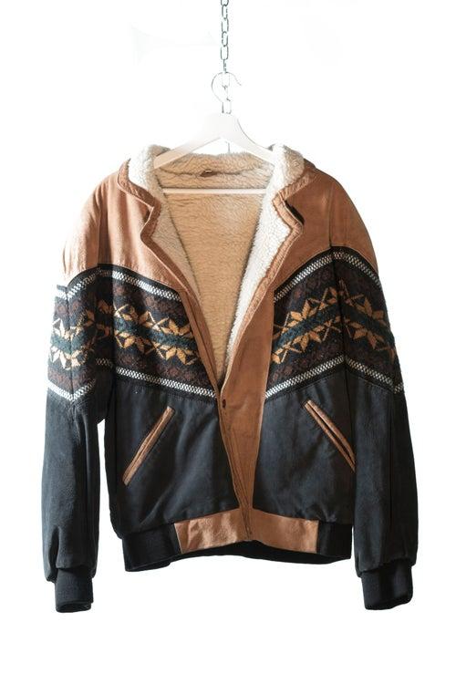 Image of Aztec Leather Sheepskin Jacket