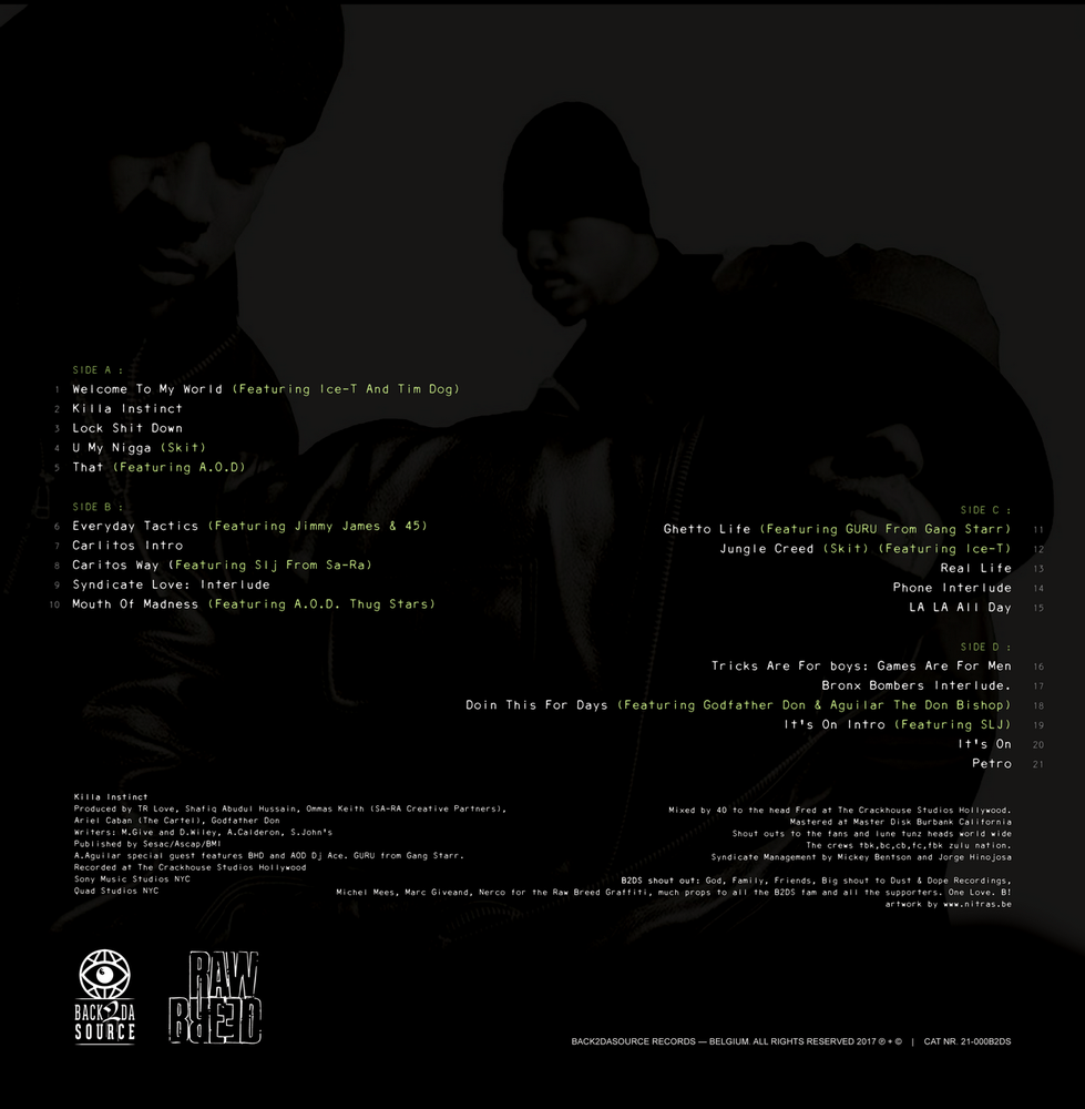 Image of Raw Breed - Killa Instinct 2xLP (Gatefold Edition) PRE ORDER NOW