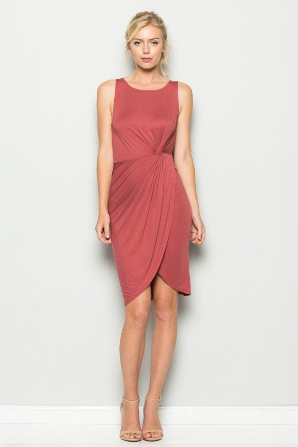 Image of Auburn Twist Midi Dress