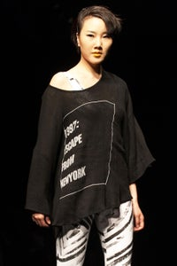 Image of Oversized Tee With Escape Print