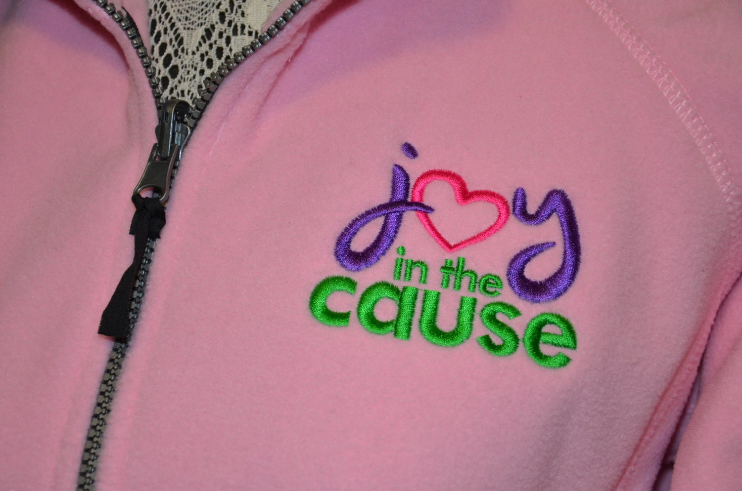 Image of Joy In The Cause Fleece Jacket
