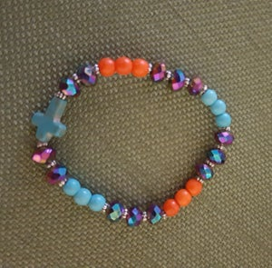 Image of Magnasite, Crystal and Pewter stretch bracelet