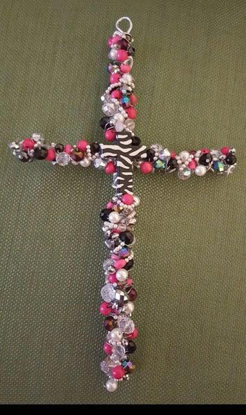 Image of Zebra Wall Cross