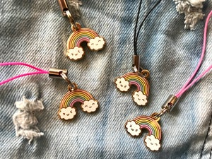 Image of Happy Rainbow Mini Charm / Cell Phone Strap