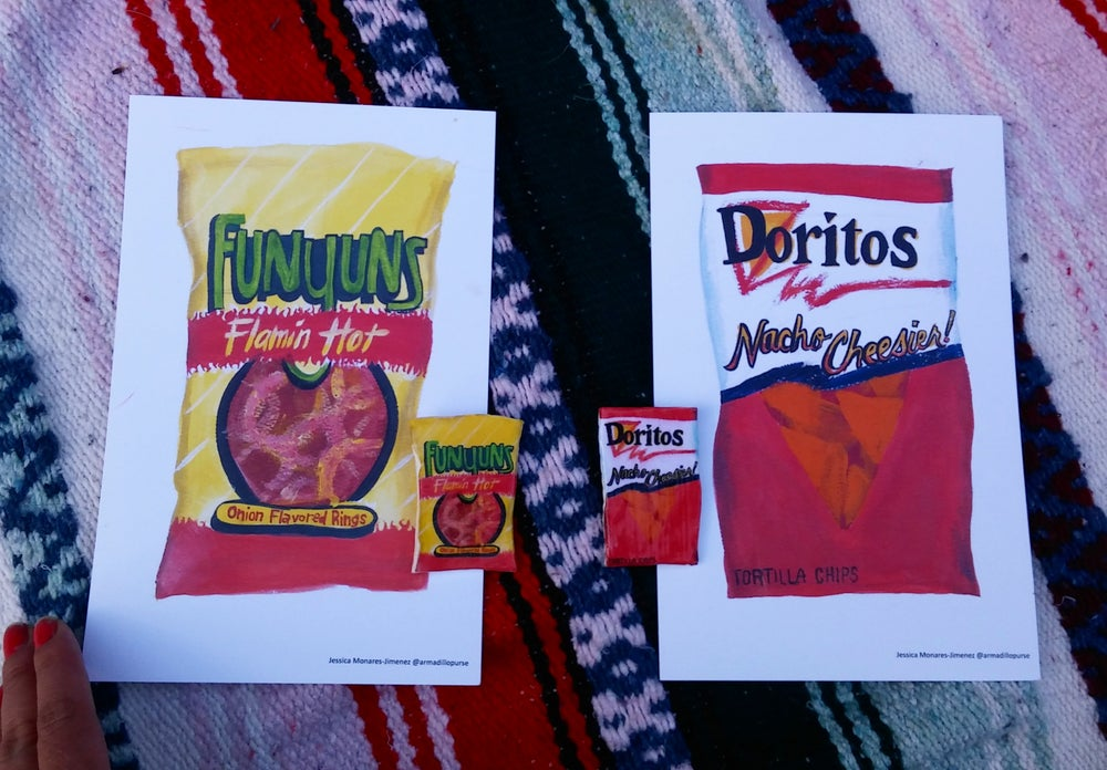 Image of Chip Bag prints by Jessica Monares-Jimenez