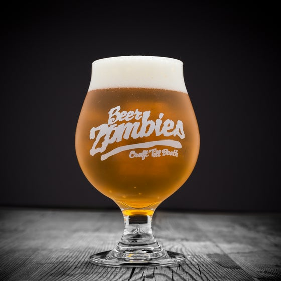 Image of Beer Zombies 16oz stemmed tulip glass