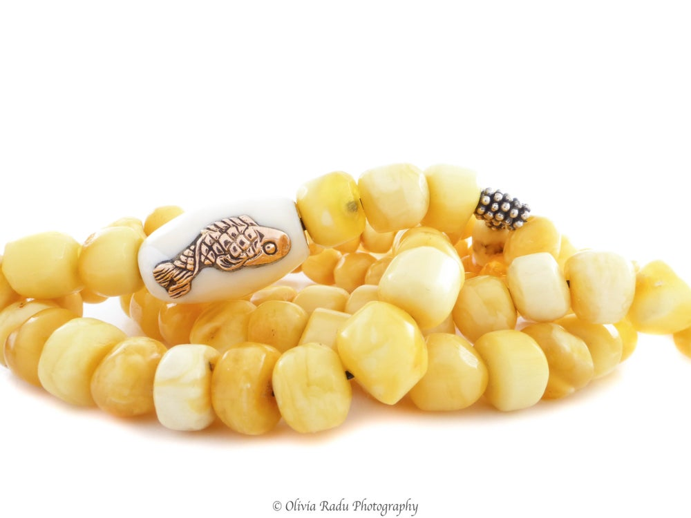 Image of Amber rosary - Pisces bead