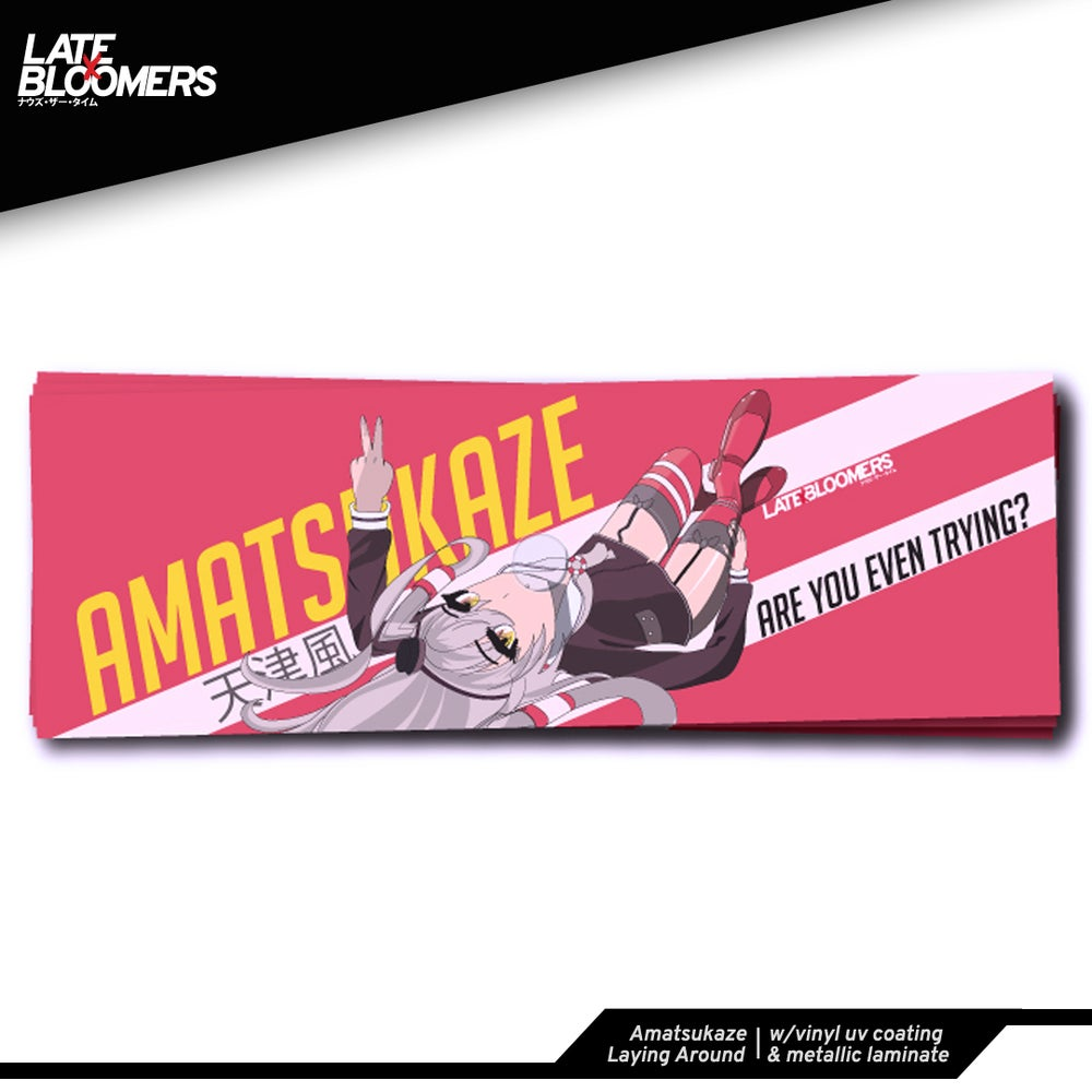 Image of Amatsukaze Laying Around Highlight | w/Vinyl UV Coating & Metallic Laminate