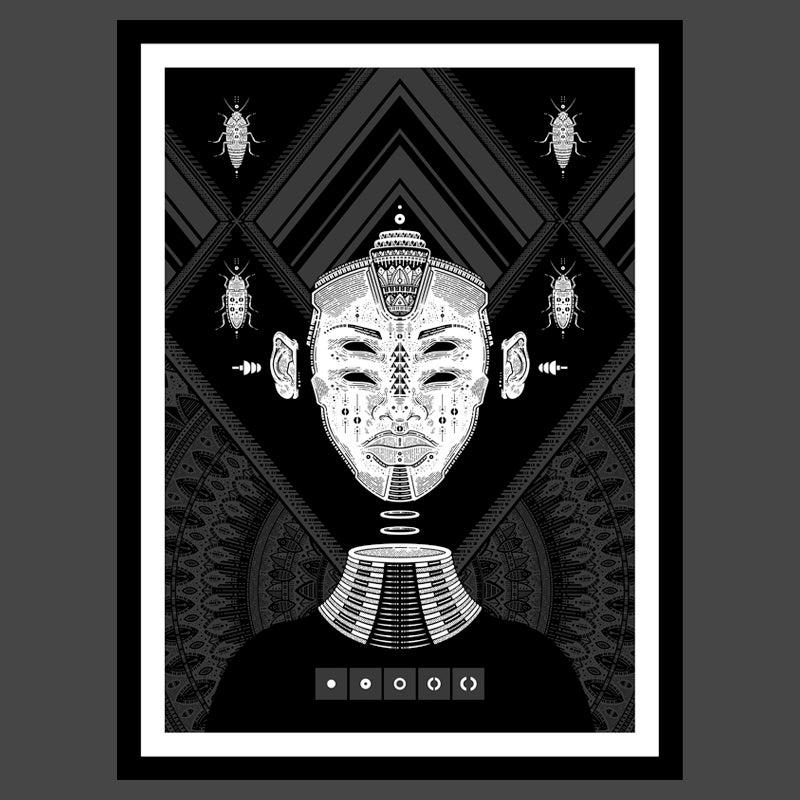 Image of smogged - art print (framed)