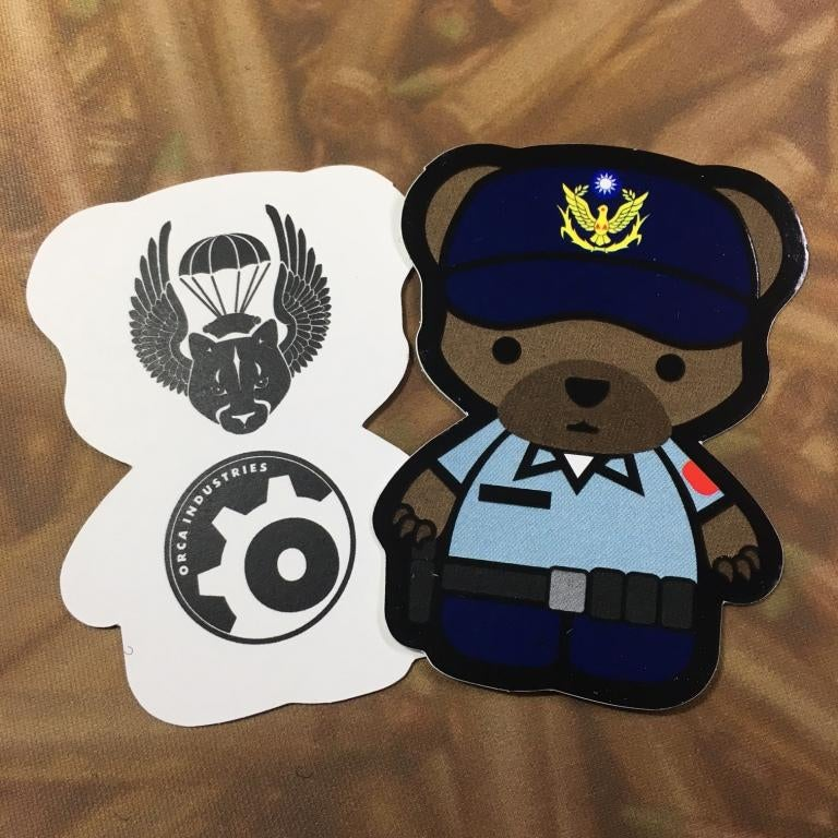 Image of ORCA IND./PARAPUMA TAIWAN EXCLUSIVE KUMA POLICE Sticker