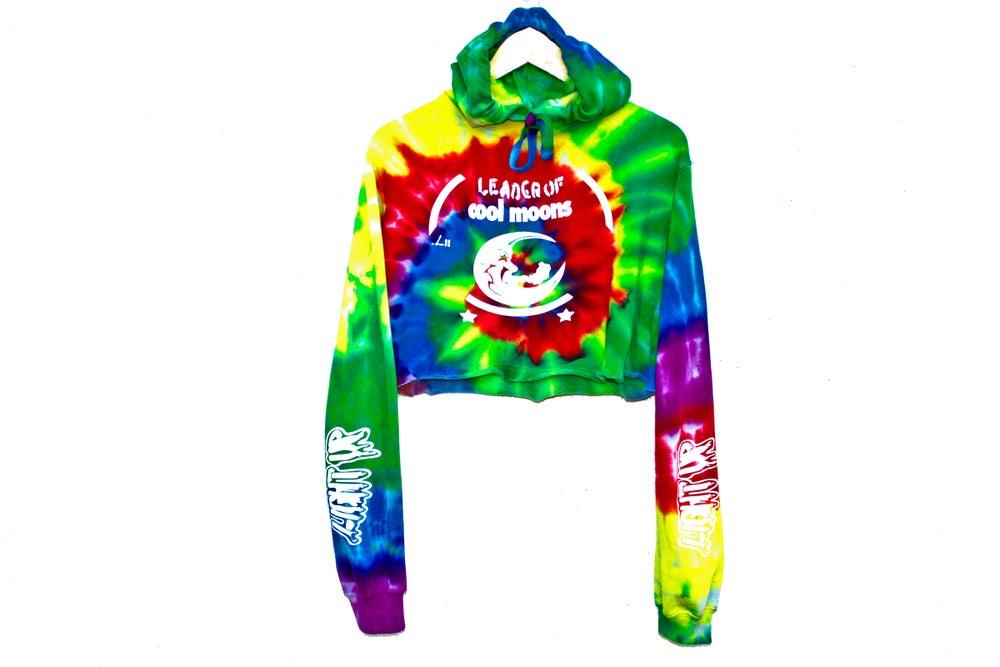 """Image of """"Light Up"""" tie-dye crop hoodie"""