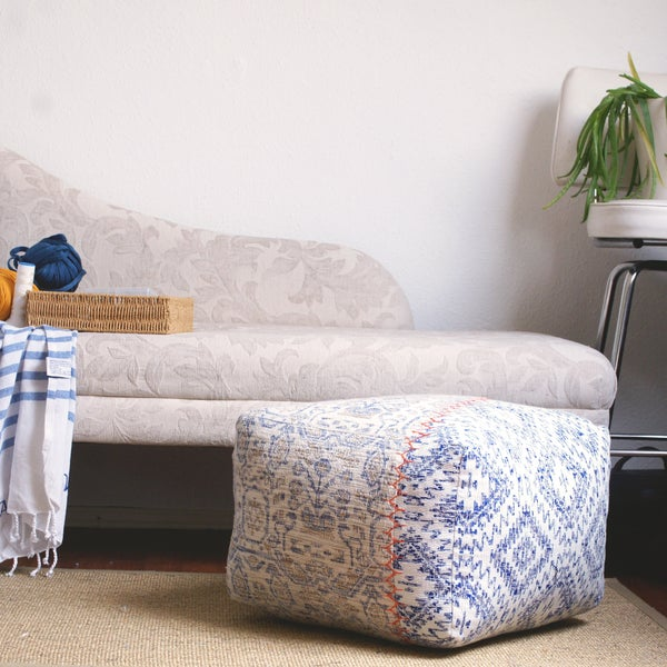 Image of Aztec Hues asymetric square pouffe