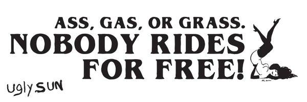 Image of ASS GAS OR GRASS STICKER