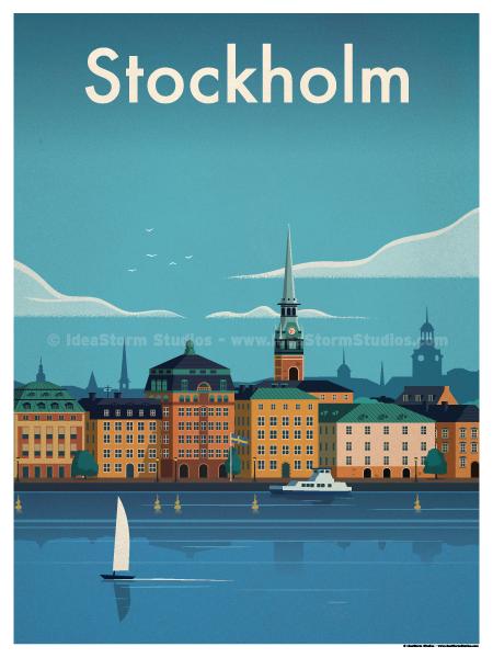 Image of Stockholm Modern Poster