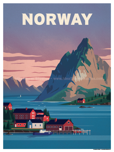 Image of Norway Fjords Poster