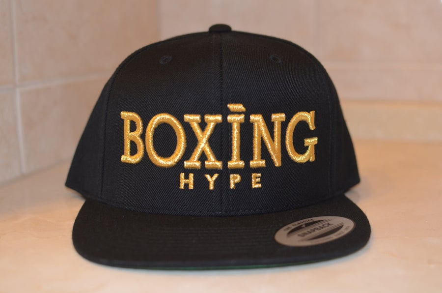 Image of Black on Gold BoxingHype Snapbacks
