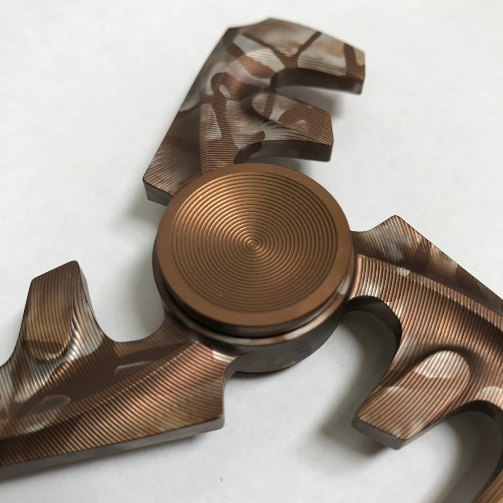 "Image of Aluminum ""Chocolate "" Triple ""F"" Fidget Toy Spinner w/ Full Ceramic Bearing"