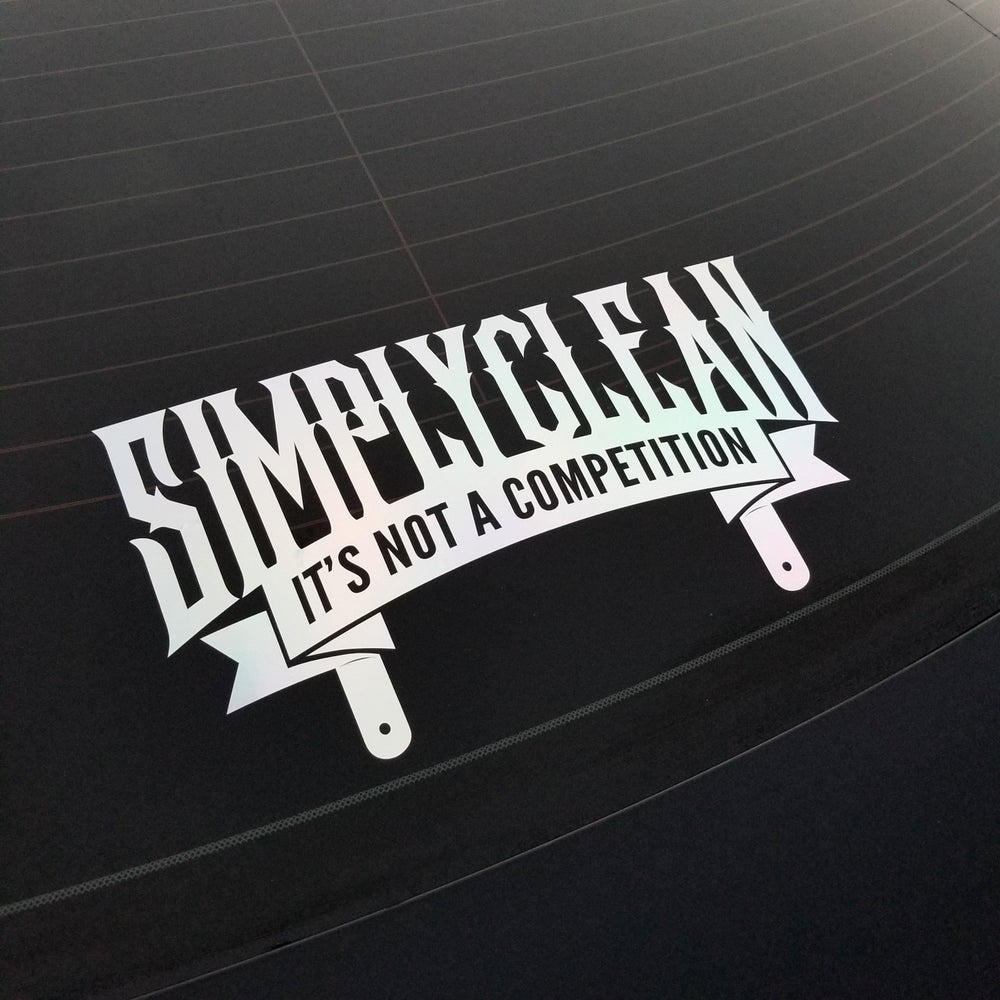 Image of Simply Clean Rear Window Decal
