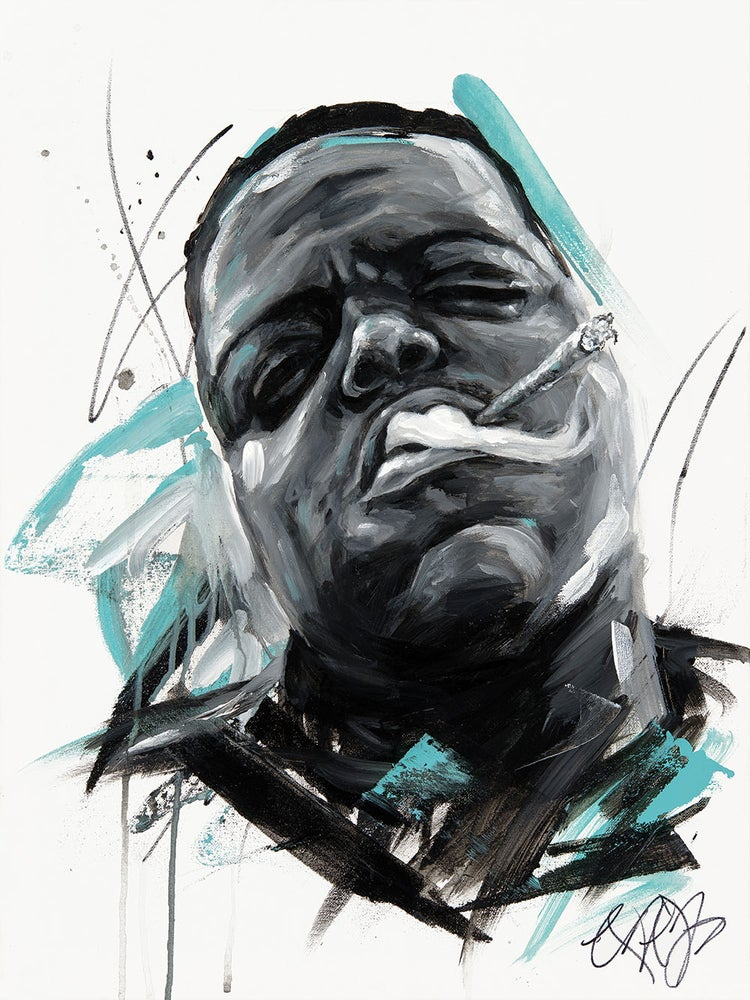 Image of Biggie Smalls/Notorious B.I.G Print on High Quality Wood (Limited Edition)