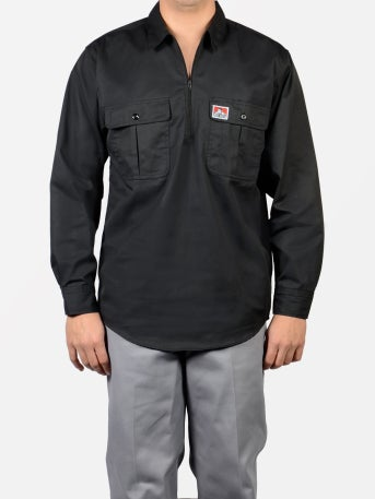 Image of Ben Davis Long sleeve Button Pocket – Half Zipper