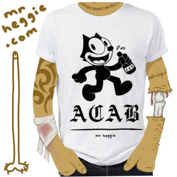 Image of The ACAB All fucking day t shirt