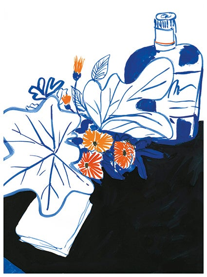 Image of Whisky and flowers