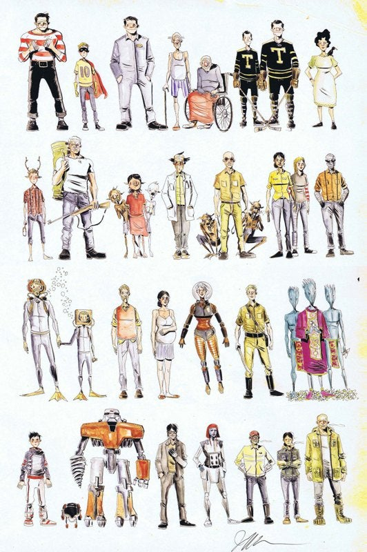 Image of Lemireverse Limited Edition Print Signed by Jeff Lemire (Second Printing)