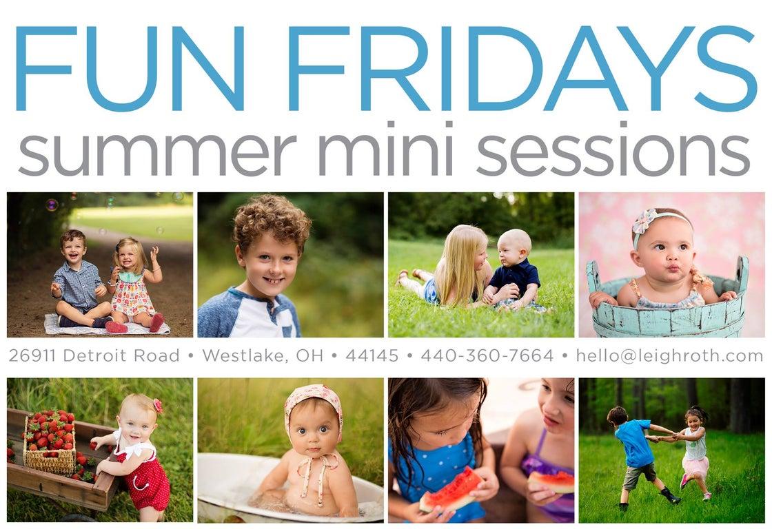 Image of FUN FRIDAY SUMMER MINIS!