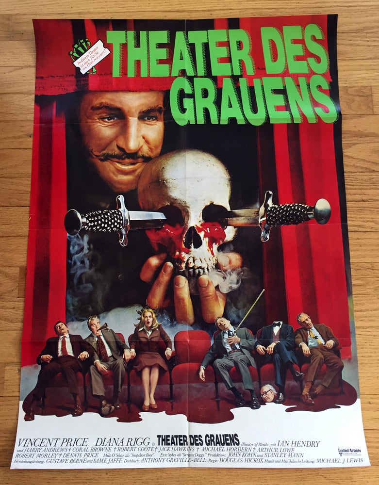 Image of 1973 THEATER OF BLOOD Original German A1 Movie Poster