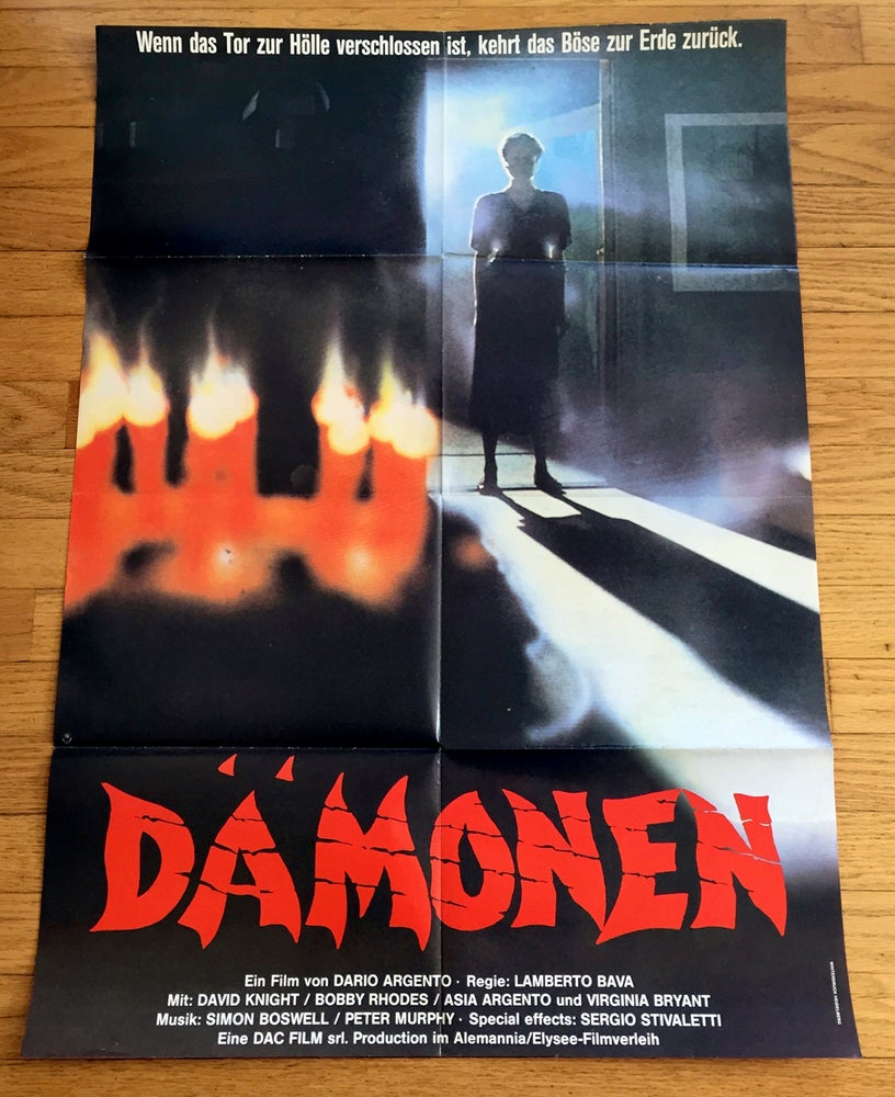 Image of 1987 DEMONS 2 Original German A1 Movie Poster