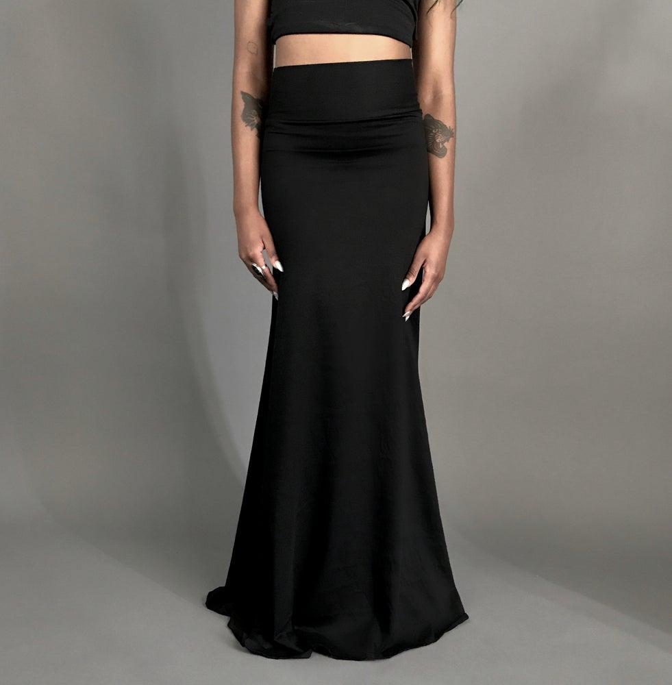 Image of Classic Black Maxi Skirt