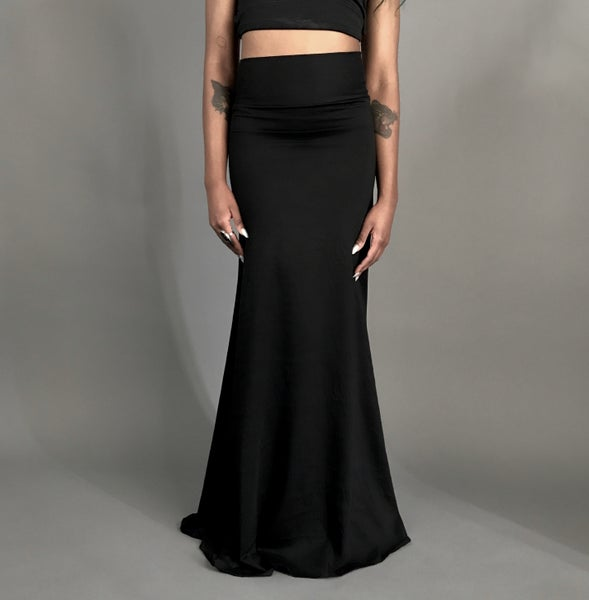 Image of Classic Black Maxi Skirt