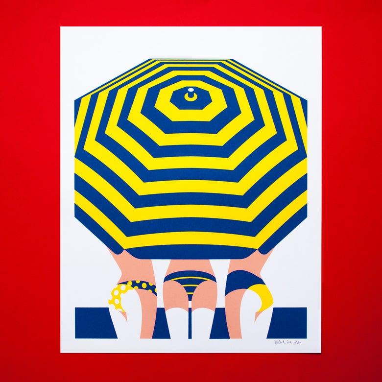 Image of seaside gossip - yellow
