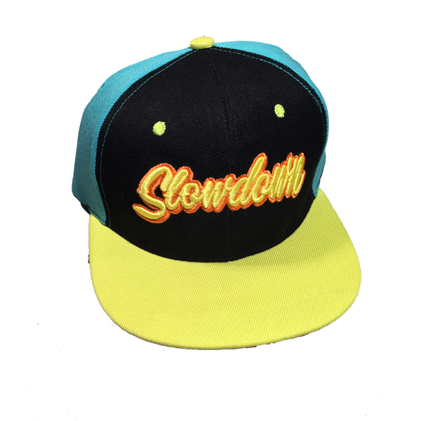 Image of Slowdown Snap back Turquoise and Black