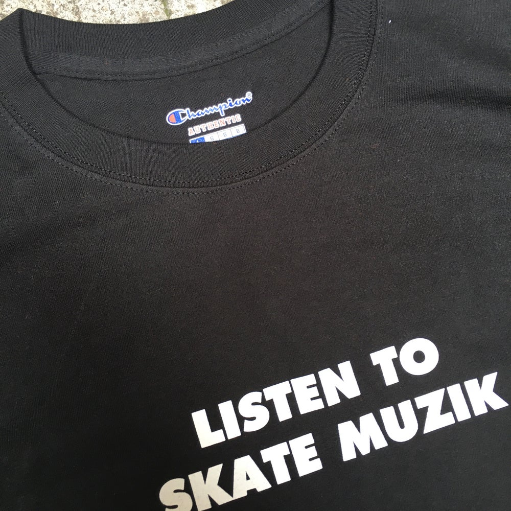 Image of Listen to SkateMuzik tee