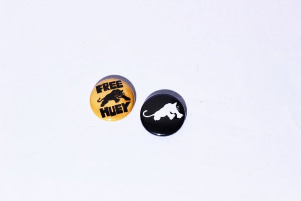 Image of Black Panther 1 inch Pin Back Button