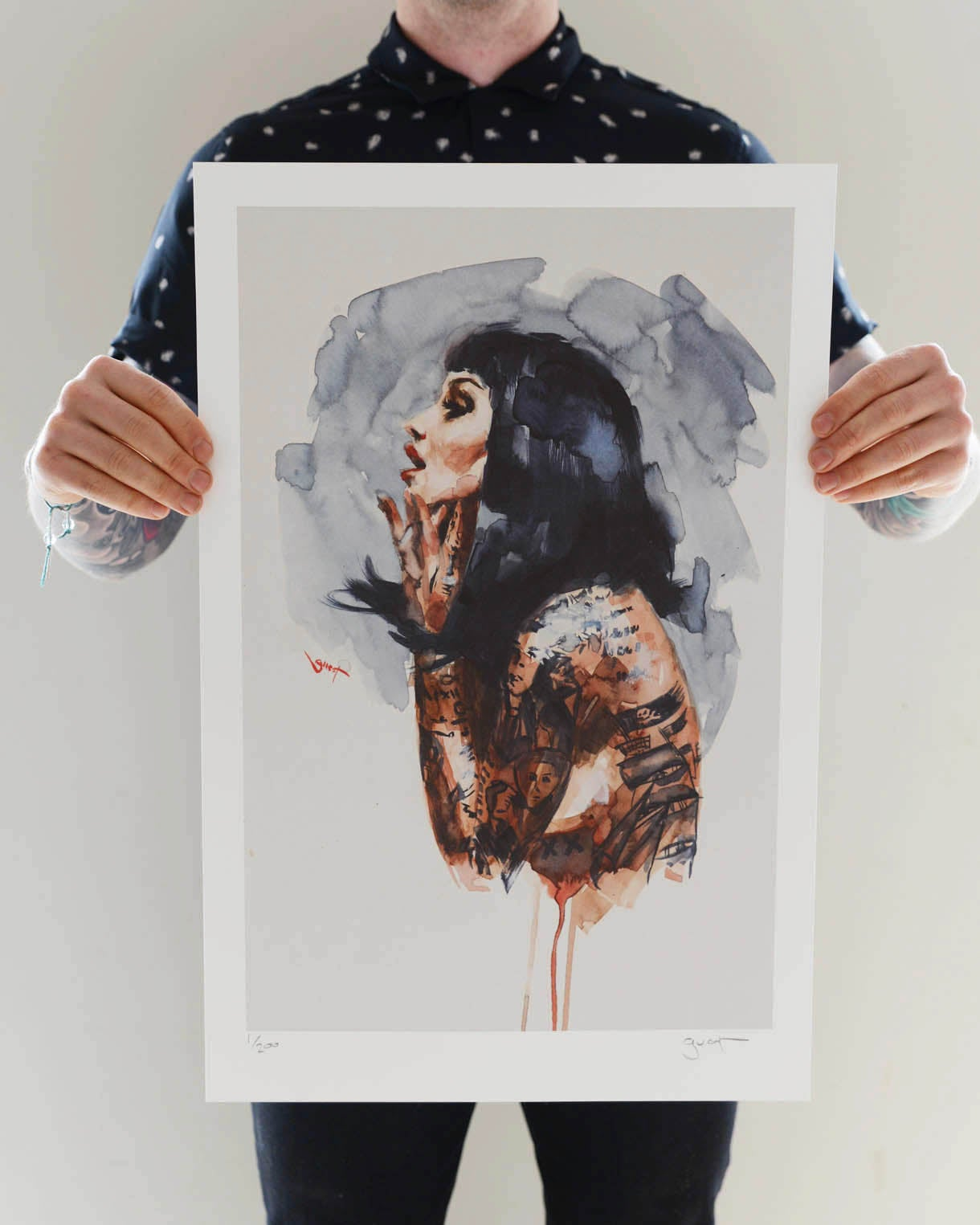 Image of Limited Edition 'RAVEN' Lithograph Print