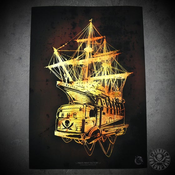 Image of Print Pirate Boat Warm