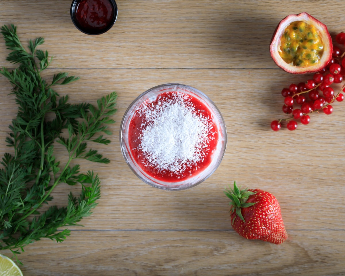 Image of Pudding framboises coco et graines de chia bio fait maison