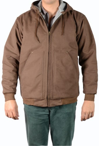 Image of Ben Davis Hooded, Fleece/Sherpa Lined Jacket (Brown)