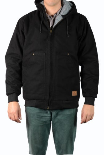 Image of Ben Davis Hooded, Fleece/Sherpa Lined Jacket (Black)