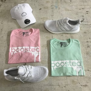 "Image of BOOSTED  ""PINK, LIGHT BLUE, TAN, OR MINT"" T-SHIRT"