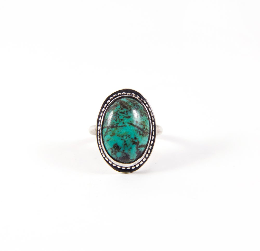 Image of Turquoise Oval Ring Size 7