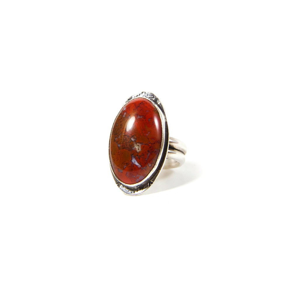 Image of Red Jasper Sterling Silver Ring