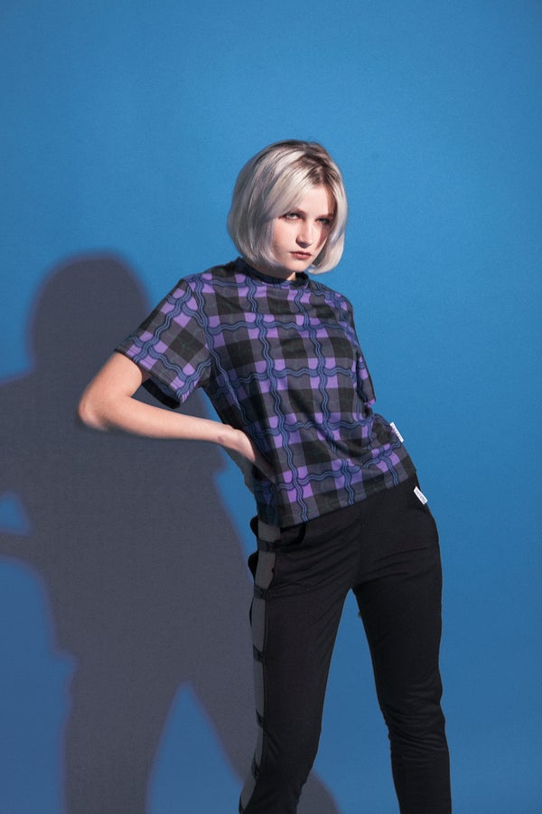 Image of tartan girl tshirt