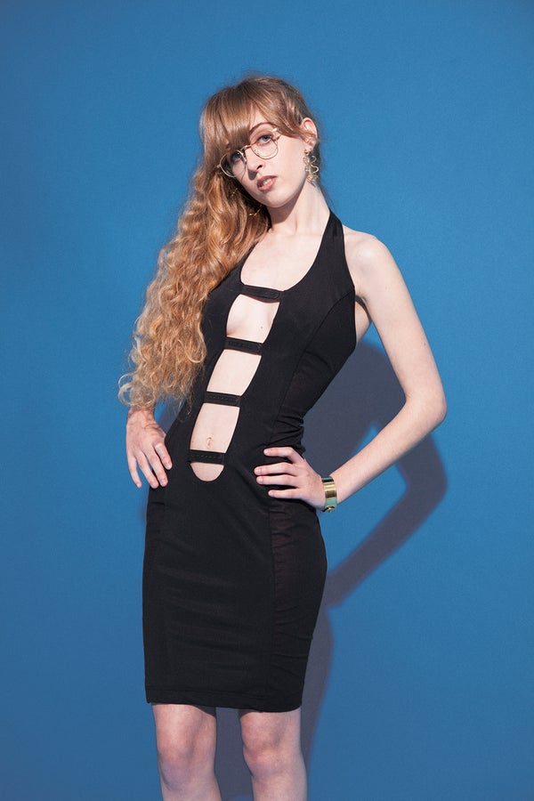 Image of snapback strap dress
